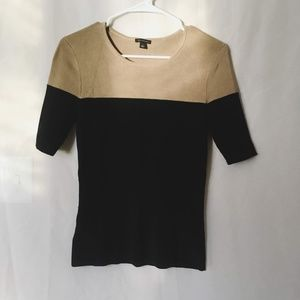 Ann Taylor Quarter Sleeve Sweater Blouse Small